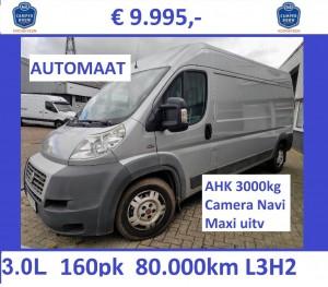 F036 DUC 2009 L3H2 80dkm 3.0 160 AUT zilver 9.995ex