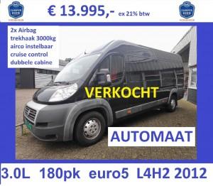 F039 Duc12-150 3.0L 177pk AUTOMAAT 2x airbag L4H2 13995 V2 verkocht