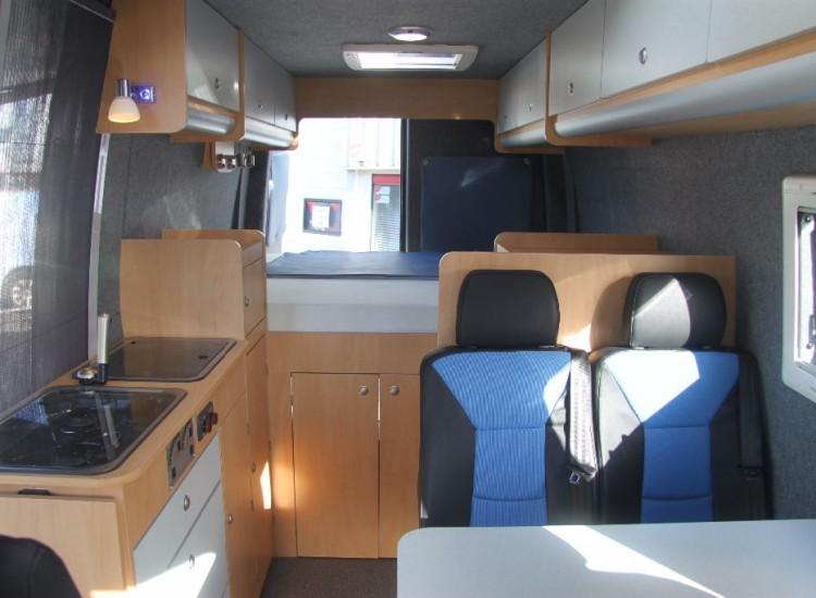 Inbouw prijzen bus campers for Kapsalon interieur te koop