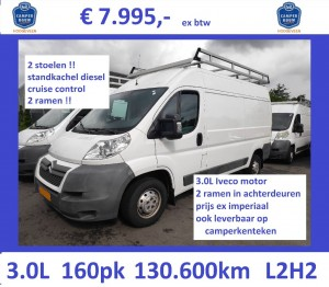 J015 Jumper L2H2 2009 130.600 3.0 160 wit 7995 STD 8-VDG-12 no KTK