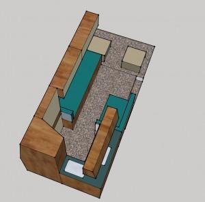 MB L2H2 2x lengtebank-bed -keuken B