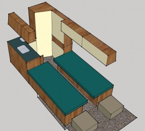 MB L2H2 2x lengtebank-bed -keuken NACHT