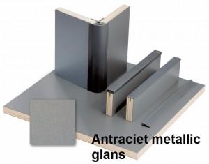 Reimo antraciet metallic glans tekst
